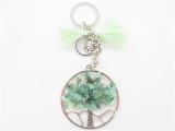 Tree of Life keychain amethyst jade