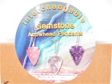 Interchangeable Gemstone Arrowhead Pendants - Großhandel