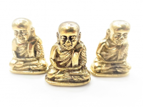 Grosshandel - Bronze Happy Buddha II set von 3