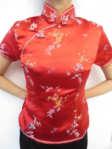 Shanghai bluse blute red