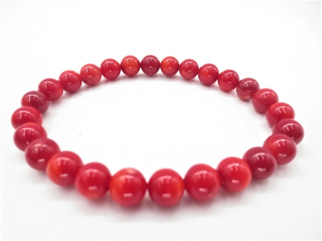 8mm Stein Armband Rote Koralle