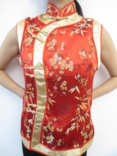 rot mit Gold Damen Tops