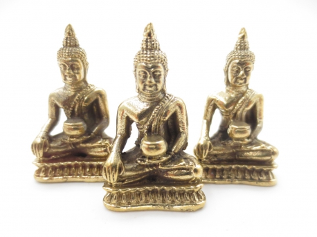 Grosshandel - Bronze Meditation Buddha V set von 3